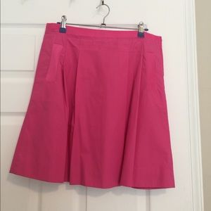 J.Crew pleated pink skirt. 19 inches, size 4